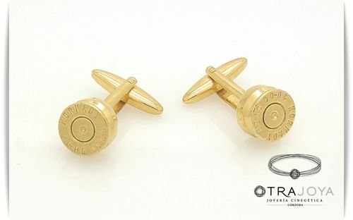 BULLET CASING TOP CUFFLINKS