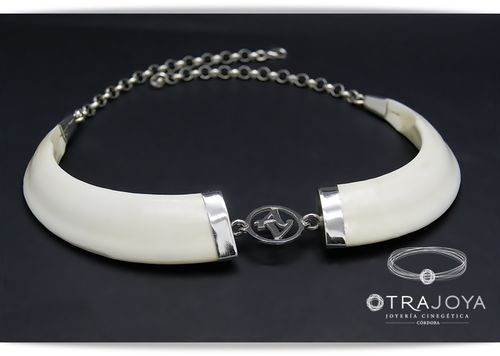 CUSTOM WILD BOAR TUSKS NECKLACE